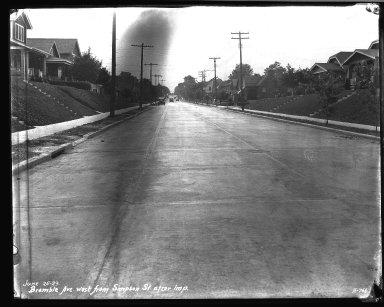 Street Improvement Photographs -- Box 32, Folder 26 (Bramble Avenue) -- negative, 1929-06-25