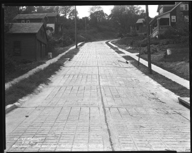 Street Improvement Photographs -- Box 32, Folder 27 (Brinkmeir Avenue) -- negative, 1931-09-29