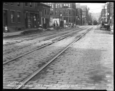 Street Improvement Photographs -- Box 32, Folder 28 (Broadway Street) -- negative, 1926-09-23