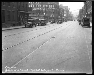 Street Improvement Photographs -- Box 32, Folder 28 (Broadway Street) -- negative, 1927-06-25