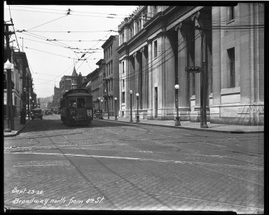 Street Improvement Photographs -- Box 32, Folder 29 (Broadway Street) -- negative, 1926-09-23