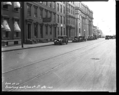 Street Improvement Photographs -- Box 32, Folder 29 (Broadway Street) -- negative, 1927-06-25