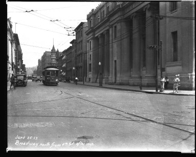 Street Improvement Photographs -- Box 32, Folder 29 (Broadway Street) -- negative, 1927-06-25