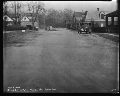 Street Improvement Photographs -- Box 32, Folder 30 (Bruce Avenue) -- negative, 1929-03-08
