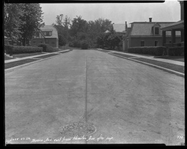 Street Improvement Photographs -- Box 32, Folder 30 (Bruce Avenue) -- negative, 1929-06-27