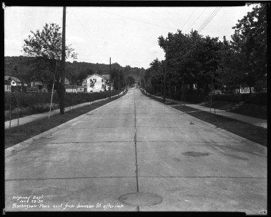 Street Improvement Photographs -- Box 32, Folder 31 (Buckingham Place) -- negative, 1930-06-28