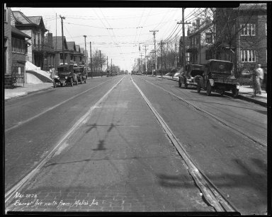 Street Improvement Photographs -- Box 32, Folder 33 (Burnet Avenue) -- negative, 1928-03-22