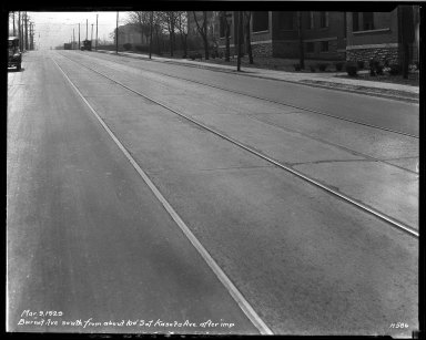 Street Improvement Photographs -- Box 32, Folder 33 (Burnet Avenue) -- negative, 1929-03-09