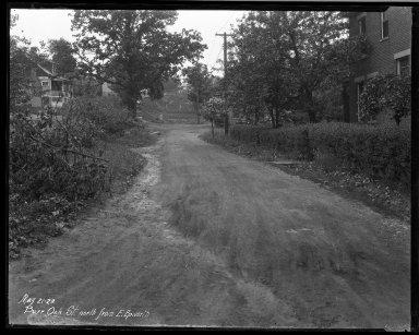 Street Improvement Photographs -- Box 32, Folder 34 (Bur Oak) -- negative, 1928-05-21