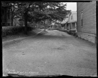 Street Improvement Photographs -- Box 32, Folder 34 (Bur Oak) -- negative, 1928-05-21