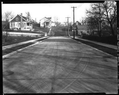 Street Improvement Photographs -- Box 32, Folder 34 (Bur Oak) -- negative, 1928-12-28