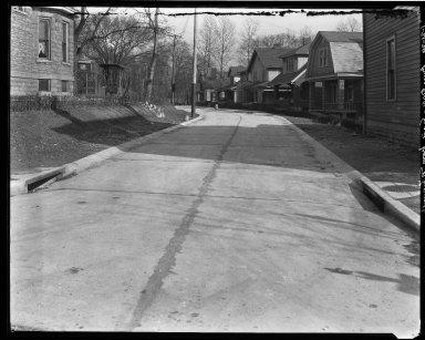 Street Improvement Photographs -- Box 32, Folder 34 (Bur Oak) -- negative, 1929-01-21