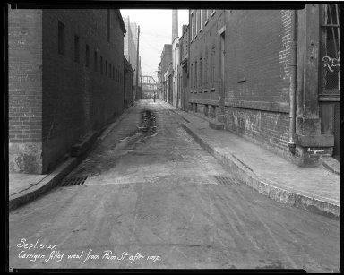Street Improvement Photographs -- Box 32, Folder 37 (Carrigan Alley) -- negative, 1927-09-09