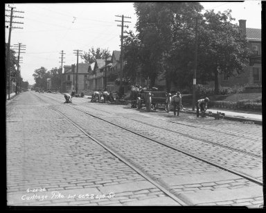 Street Improvement Photographs -- Box 32, Folder 38 (Carthage Pike) -- negative, 1926-06-25