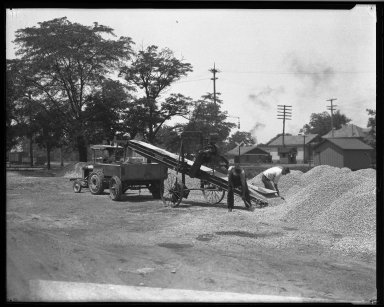 Street Improvement Photographs -- Box 32, Folder 39 (Carthage Yards) -- negative, 1926