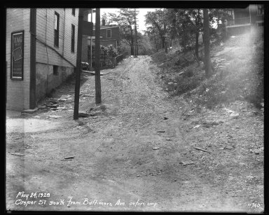 Street Improvement Photographs -- Box 32, Folder 40 (Casper Street) -- negative, 1929-05-24
