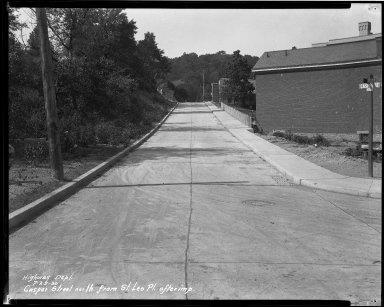 Street Improvement Photographs -- Box 32, Folder 40 (Casper Street) -- negative, 1930-07-23