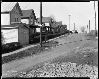 Street Improvement Photographs -- Box 32, Folder 42 (Cavanaugh Avenue) -- negative, 1932-01-18