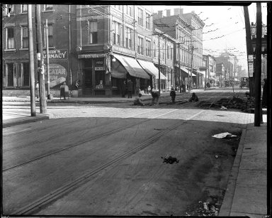 Street Improvement Photographs -- Box 32, Folder 48 (Chandler Avenue) -- negative, 1927