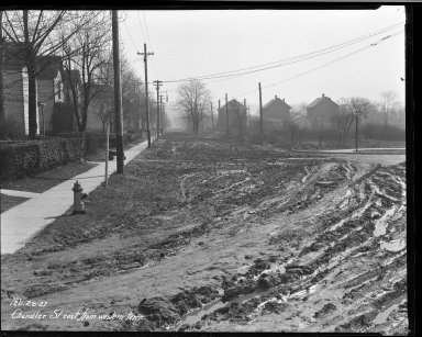 Street Improvement Photographs -- Box 32, Folder 48 (Chandler Avenue) -- negative, 1927-02-28