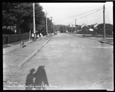 Street Improvement Photographs -- Box 32, Folder 48 (Chandler Avenue) -- negative, 1927-09-17