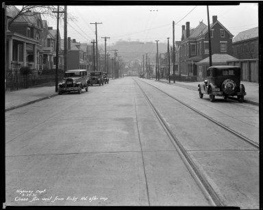 Street Improvement Photographs -- Box 33, Folder 01 (Chase Avenue) -- negative, 1931-03-27