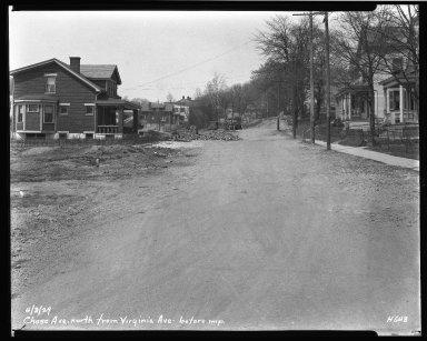 Street Improvement Photographs -- Box 33, Folder 01 (Chase Avenue) -- negative, 1929-04-03