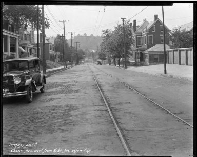 Street Improvement Photographs -- Box 33, Folder 01 (Chase Avenue) -- negative, 1930-09-10