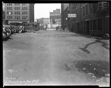 Street Improvement Photographs -- Box 33, Folder 02 (East Cheapside Street) -- negative, 1927-10-03