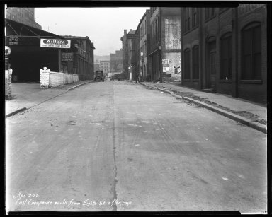Street Improvement Photographs -- Box 33, Folder 02 (East Cheapside Street) -- negative, 1928-04-02
