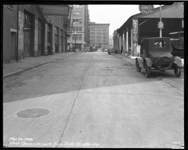 Street Improvement Photographs -- Box 33, Folder 03 (West Cheapside Street) -- negative, 1929-03-26
