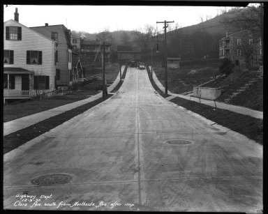 Street Improvement Photographs -- Box 33, Folder 04 (Clara Avenue) -- negative, 1930-12-09