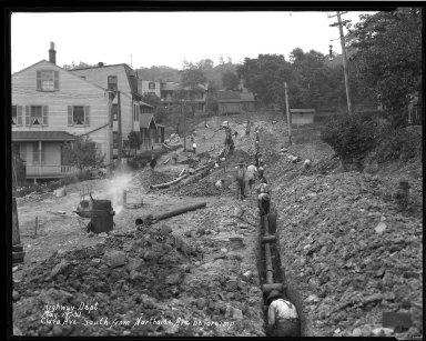 Street Improvement Photographs -- Box 33, Folder 04 (Clara Avenue) -- negative, 1930-05-19