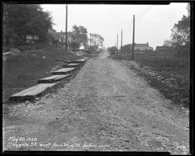 Street Improvement Photographs -- Box 33, Folder 05 (Claypole Street) -- negative, 1929-05-20
