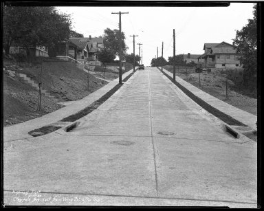Street Improvement Photographs -- Box 33, Folder 05 (Claypole Street) -- negative, 1930-05-13