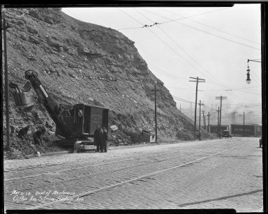 Street Improvement Photographs -- Box 33, Folder 06 (Clifton Avenue) -- negative, 1928-03-21