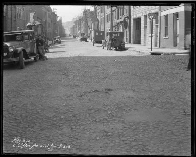 Street Improvement Photographs -- Box 33, Folder 07 (Clifton Avenue) -- negative, 1928-05-03