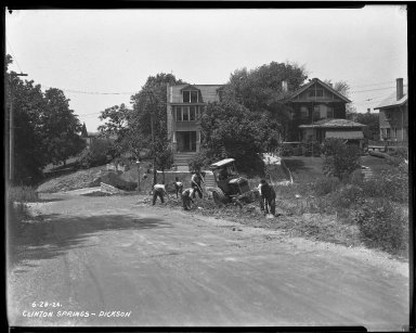 Street Improvement Photographs -- Box 33, Folder 08 (Clinton Springs Avenue) -- negative, 1926-06-28