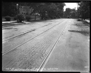 Street Improvement Photographs -- Box 33, Folder 08 (Clinton Springs Avenue) -- negative, 1929-07-09