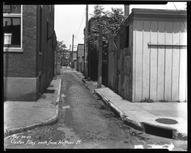 Street Improvement Photographs -- Box 33, Folder 09 (Cluxton Alley) -- negative, 1927-05-24