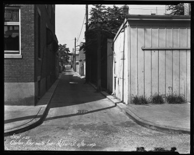 Street Improvement Photographs -- Box 33, Folder 09 (Cluxton Alley) -- negative, 1927-09-01