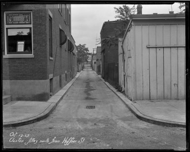 Street Improvement Photographs -- Box 33, Folder 09 (Cluxton Alley) -- negative, 1927-10-12