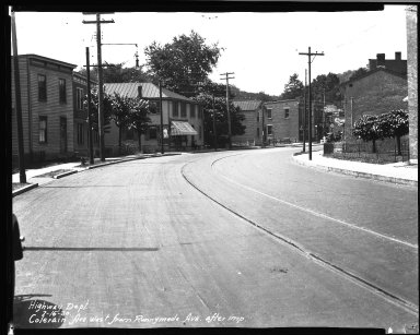 Street Improvement Photographs -- Box 33, Folder 10 (Colerain Avenue) -- negative, 1930-07-16