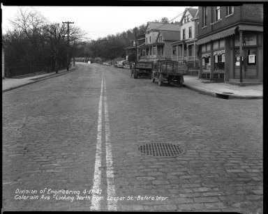 Street Improvement Photographs -- Box 33, Folder 11 (Colerain Avenue) -- negative, 1947-04-17