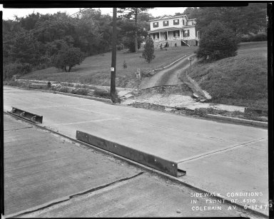 Street Improvement Photographs -- Box 33, Folder 11 (Colerain Avenue) -- negative, 1947-06-17