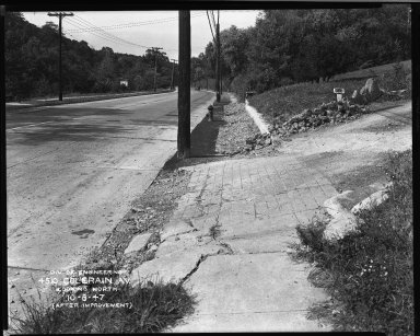 Street Improvement Photographs -- Box 33, Folder 12 (Colerain Avenue) -- negative, 1947-10-08