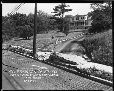 Street Improvement Photographs -- Box 33, Folder 13 (Colerain Avenue) -- negative, 1947-05-28