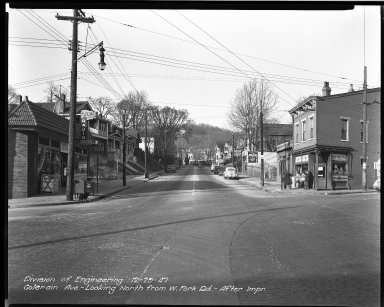 Street Improvement Photographs -- Box 33, Folder 13 (Colerain Avenue) -- negative, 1947-12-29