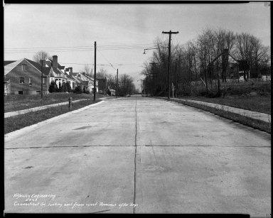Street Improvement Photographs -- Box 33, Folder 18 (Connecticut Avenue) -- negative, 1944-02-09