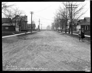 Street Improvement Photographs -- Box 33, Folder 20 (Cornelia Avenue) -- negative, 1929-04-06